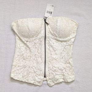 Lace Strapless Bustier Top